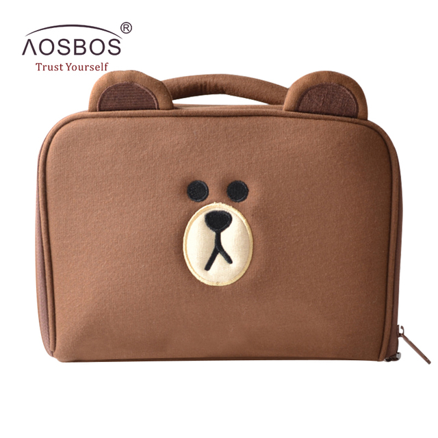 Aosbos Cartoon Cute Bear Cosmetic Bags Women Travel Wash Makeup Bag Case S Portable Toiletry