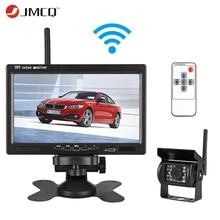 JMCQ 7 «TFT ЖК-дисплей беспроводной проводной автомобильный монитор HD дисплей Обратный парковочная камера для автомобиля мониторы заднего вида для грузовика работы автомобиля