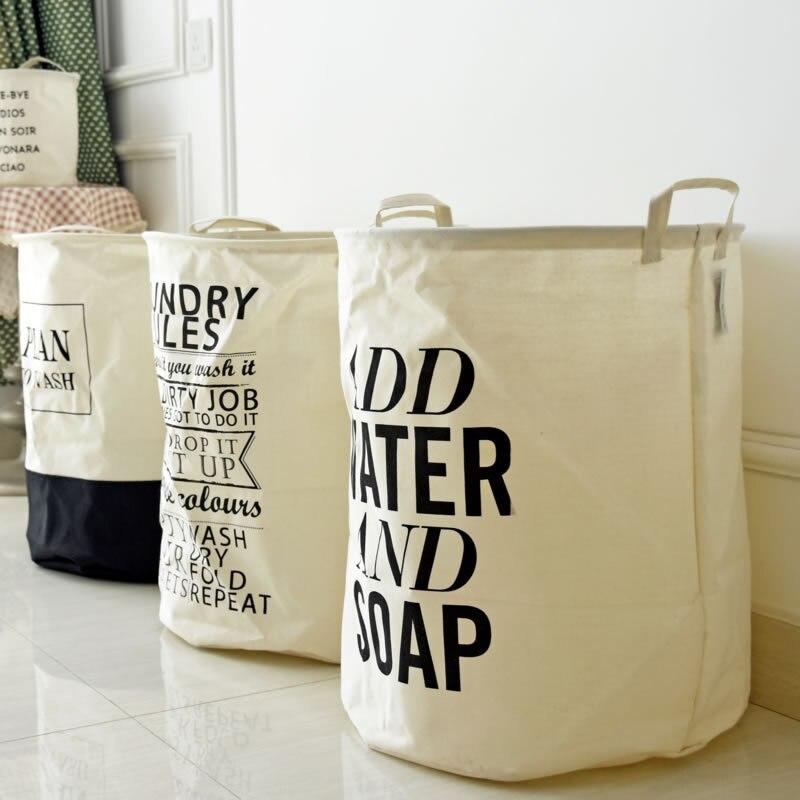 semicircle grid batman pattern handbag baby kids toy clothes canvas laundry basket storage bag with leather handles room decor