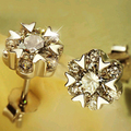 Эффи Королева Идеальный Полированный Женщин Серьги с Австрийской CZ Кристалл Милый Маленький Цветок Серьги Оптовая WHE67