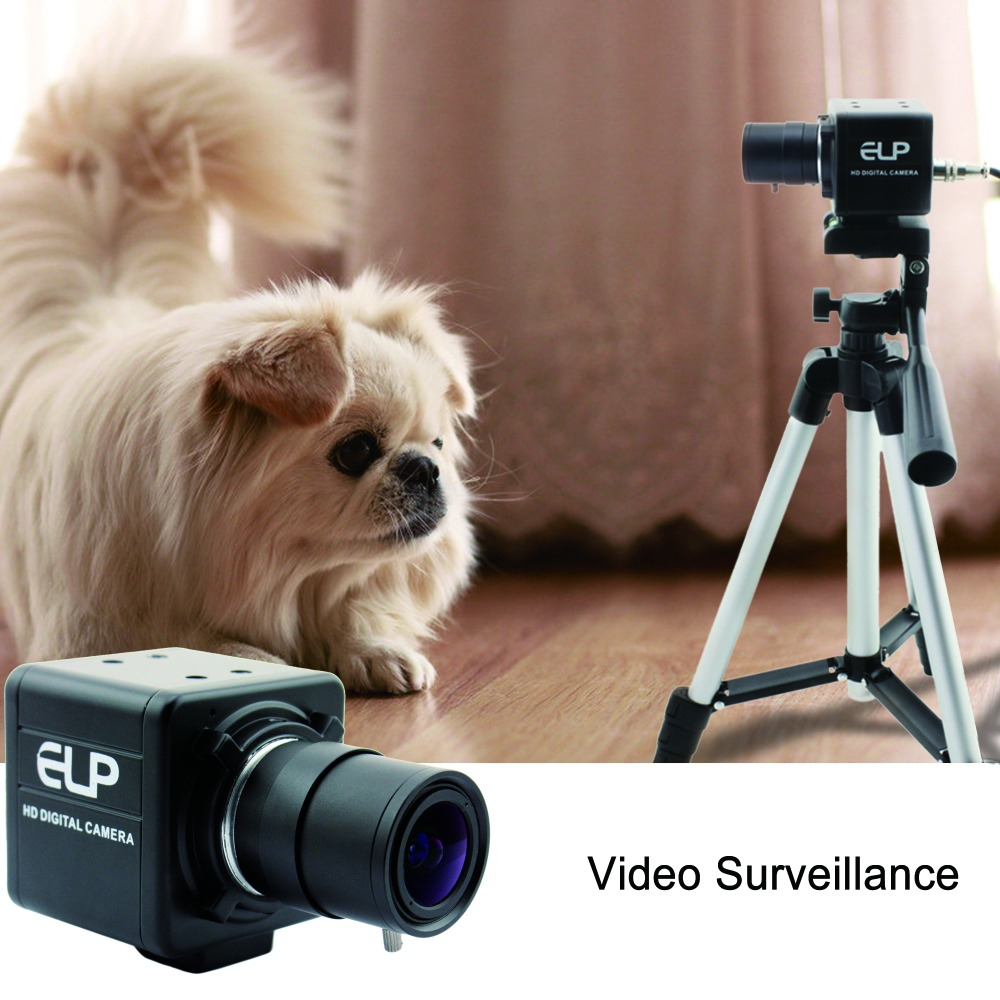 2MP FUll HD 1080P Sony IMX322 Low Light OTG UVC H264/MJPEG 30fps 5-50mm Varifocal Usb Webcam Camera With Audio MIC for PC laptop