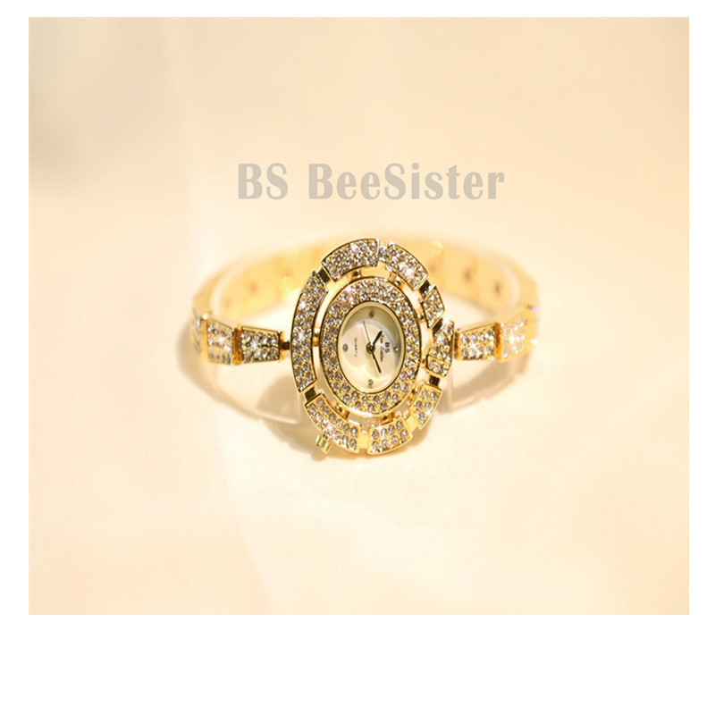 Rhinestone Ladies <font><b>Watch</b></font> Female Clock women saat relogio feminino reloj mujer Fashion Dress <font><b>BS</b></font> Quartz <font><b>Watch</b></font> Women <font><b>Watches</b></font> Luxury image