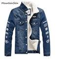 Mountainskin Men's Winter Jackets Fashion Thick Warm Male Demin Coats Casual Inside Fleece Men Parkas Brand Clothing LA130