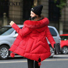 MCCKLE 2018 Winter Women Long Coat Parkas Fur Collar Cotton Padded Warm Coat Female Thick Jacket Overcoat Plus Size High Quality(China)