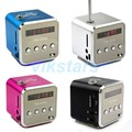 Nueva V26 Digita portátil Altavoces de la Radio FM con radio linternet radio fm mini altavoz de aluminio sd micro/tf altavoz de la tarjeta para PC