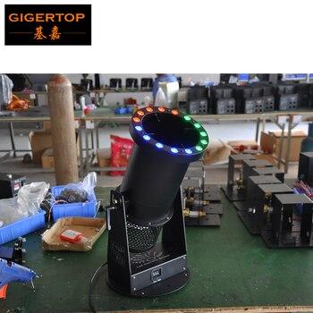 Freeshipping 1200w led Confetti Cannon with 15pcs 3W LED lamps led Confetti Machine Hi-quality 90V-240V mini led confetti blower