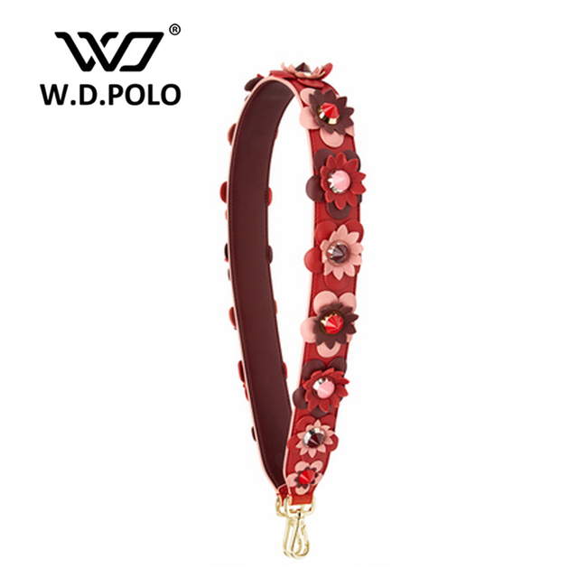 W.D.POLO Strapper you rivet handbags belts women bags strap women bag accessory bags parts genuine leather icon bag belts P1967