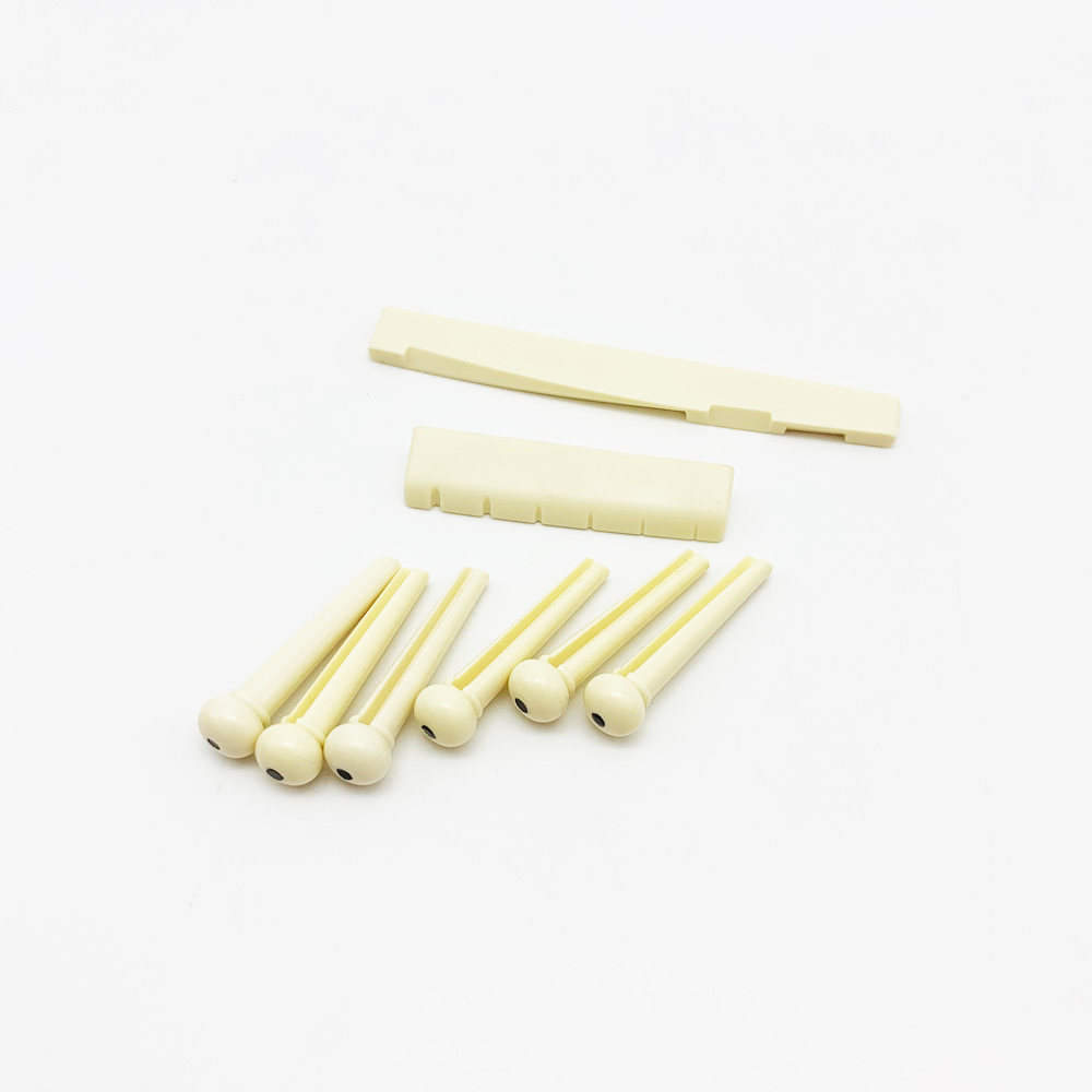 Alice 1 set <font><b>Acoustic</b></font> <font><b>Guitar</b></font> String <font><b>Bridge</b></font> Pins <font><b>Saddle</b></font> Nut Ivory White <font><b>Guitar</b></font> 6+2 Accessories image