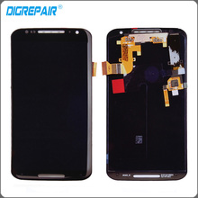 Black For Motorola Moto X+1 X2 LCD XT1092 XT1095 XT1096 XT1097 2nd 2014 LCD Display Touch screen digitizer Assembly Replacements