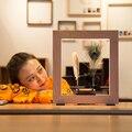 Funssor Langsam Rahmen LED Optische Täuschung Skulptur Zeitlupe Bilderrahmen Langsam Zeitrahmen Mathers Tag Geschenke