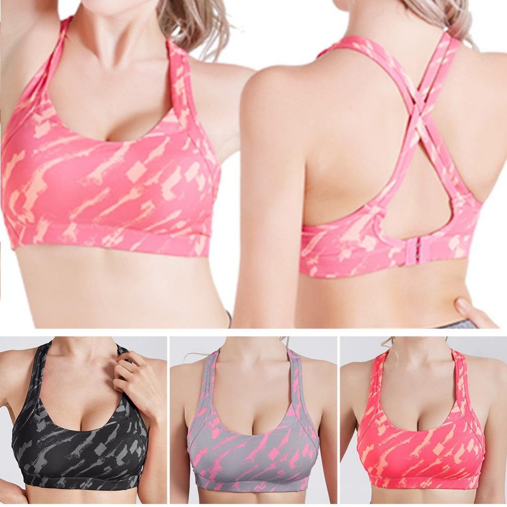 Cross Strap Back Women Sports Bra Professional Quick Dry Padded Shockproof Gym Fitness Running Yoga Sport Brassiere Tops Jogging