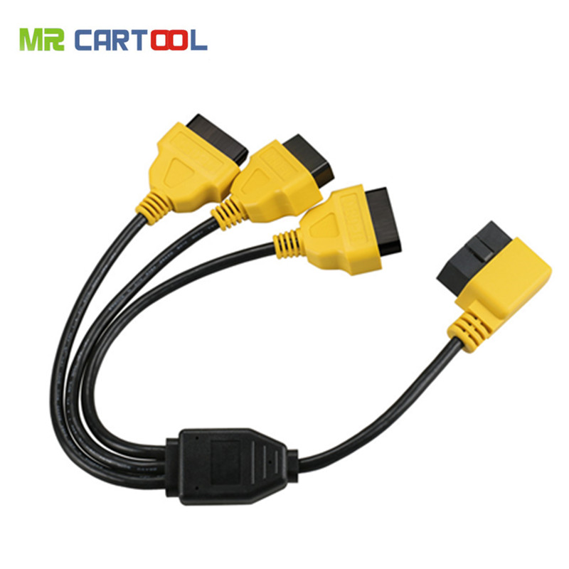 50cm OBD2 Cable 1 to 3 Converter Adapter OBD2 splitter Y Cable J1962M to 3-J1962F splitter OBD2 Extension Cable