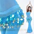 Dança do ventre traje indiano cinto de dança cadeia de cintura dança cachecol, 11 cores