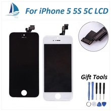 High Quality pantalla for lcd iphone 5 lcd display with touch screen Digitizer Assembly Replacement OEM