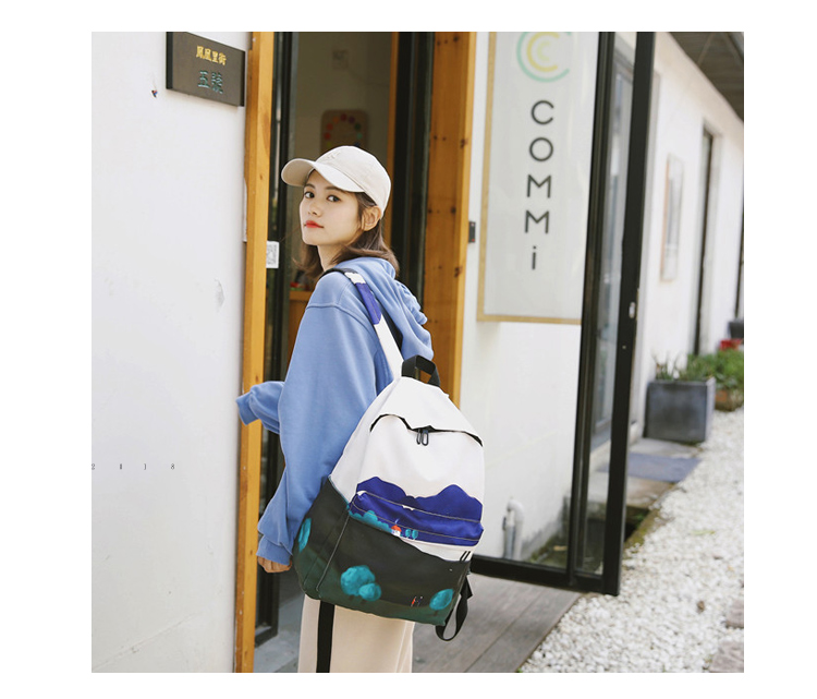 Menghuo Fresh Canvas Backpack Women Landscape School Bags for Teenagers Girls New Backpack Travel Bag Rucksack Mochilas Knapsack_13