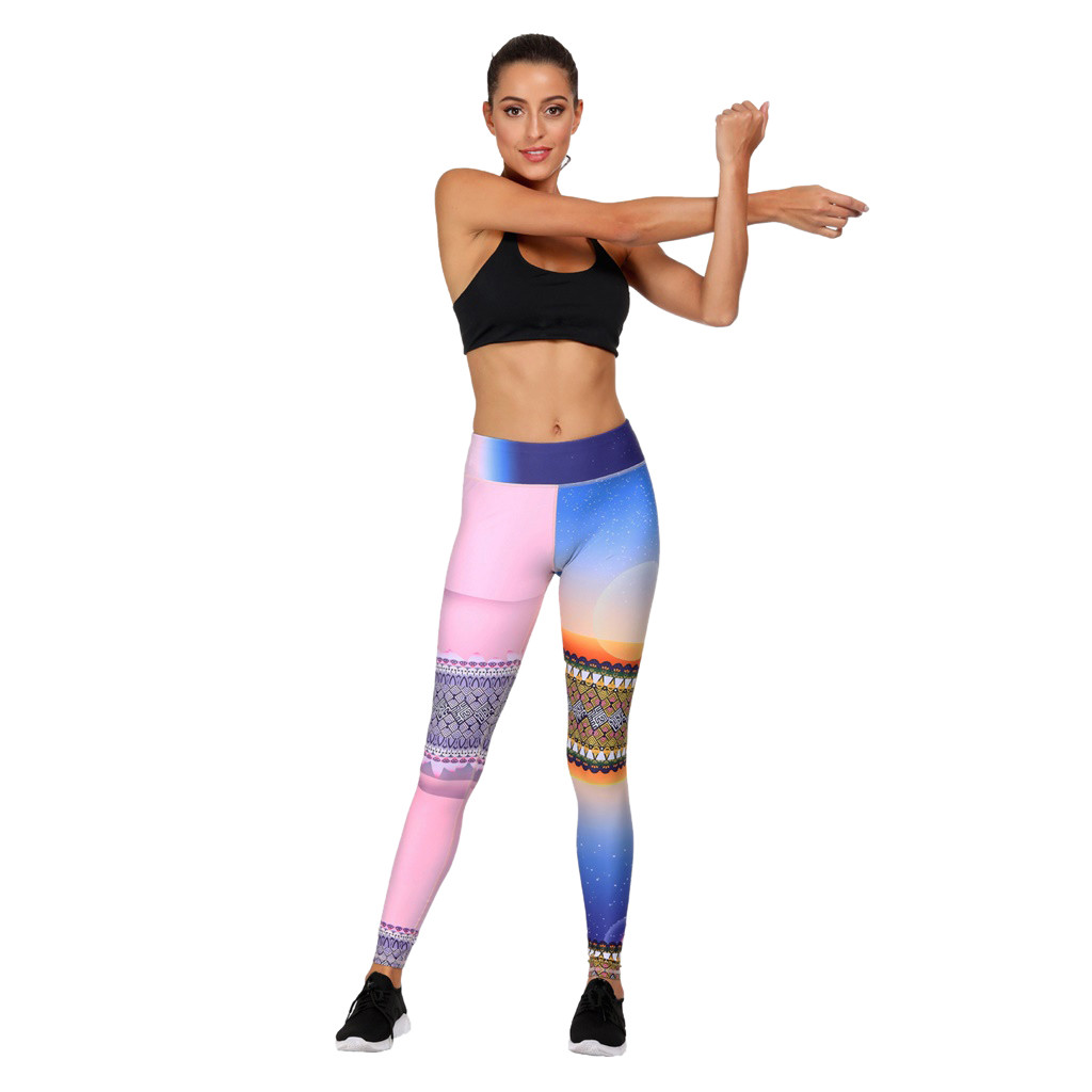 Lady Yoga Leggings Fitness Sports Gym Exercise Running Jogging Pants Trousers