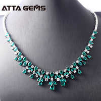 Green Emerald Sterling Silver Pendants Women Wedding Engagement Anniversary Created Emerald Fine Jewerly Design Top Quality
