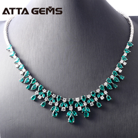 Green Emerald Sterling Silver Pendants Women Wedding Engagement Anniversary Fine Jewerly Classic and Luxury Design Top Quality