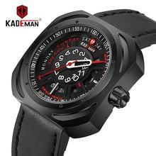 KADEMAN Luxury Brand Army Military Watch Men Quartz Automatic Date Wristwatches Leather Sport Waterproof Relogio Masculino