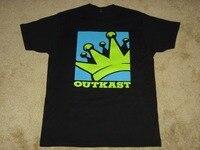 100 Cotton Straight Sleeve Gildan Short Printed O Neck Outkast Crown Logo Tee For Men