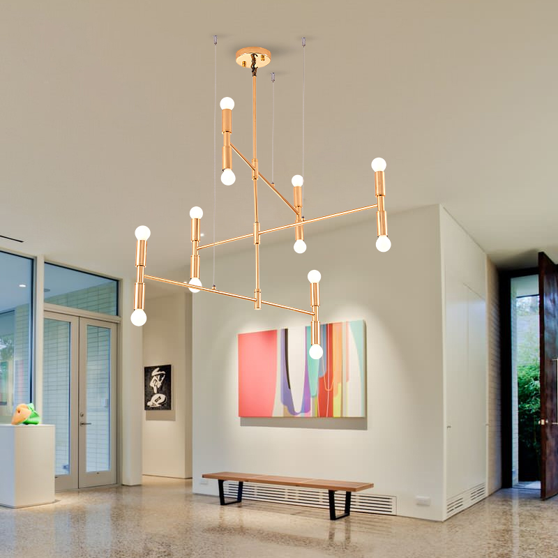 Nordic retro industrial style chandelier artistic Industrial style chandeliers