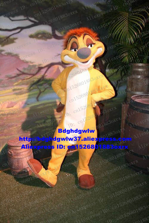 The Lion King Timon Mascot Costume Adult Cartoon Character Outfit Suit Large-scale Activities Attract Customers Zx2311