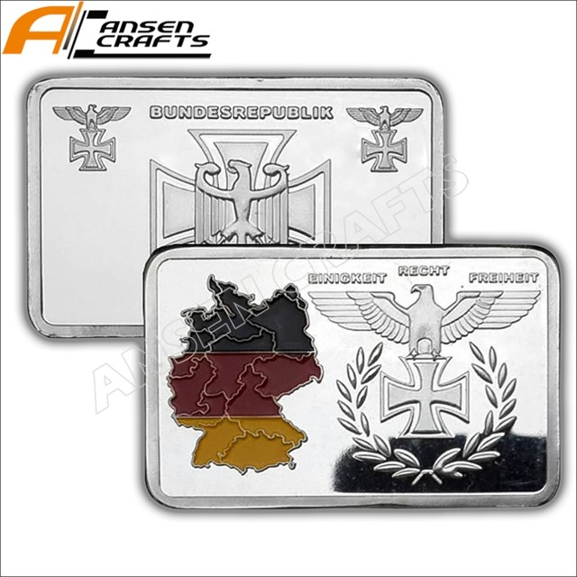 US $12 9  WW2 WWII German Flag Eagle Iron Cross Silver Clad Bullion Bar  Ingot-in Pins & Badges from Home & Garden on Aliexpress com   Alibaba Group