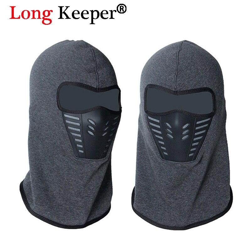 Long Keeper Women Winter Hat Lined Windproof Men Mask Balaclava Hood Rubber Breathable Vent Unisex Face Mask Neck Warmer Caps