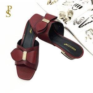 Image 2 - Anne terlik ayakkabı yay kadınlar için afrika tarzı ayakkabı