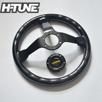 H-TUNE Car Auto Racing Genuino Volante De Carbono