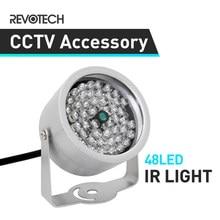 48 led iluminador luz impermeável cctv ir visão noturna infravermelha para vigilância cctv câmera