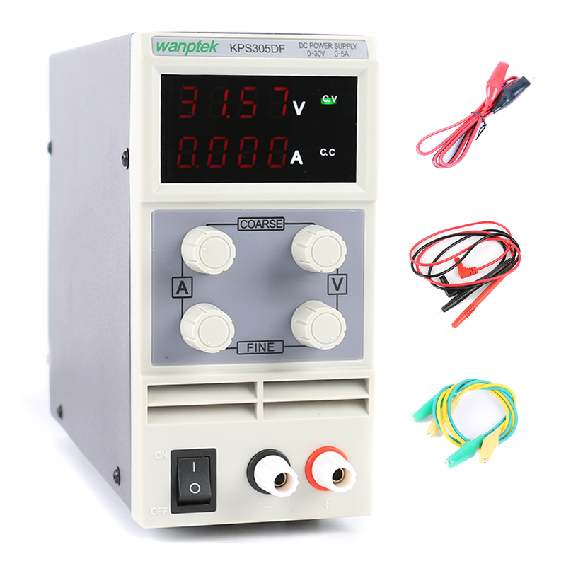 Four display laboratory power supply adiustable,mini Switching power supply uninterruptible 30V 5A KPS 305DF 0.01V/0.001A mini adjustable dc power supply laboratory power supply digital variable voltage regulator 30v10a four display ps3010dm