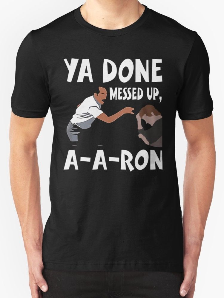 Key Peele - Substitute Teacher Ya Done Messed Up A- A-ron Men's T Shirt Black O Neck T-Shirts Male Low Price Steampunk image