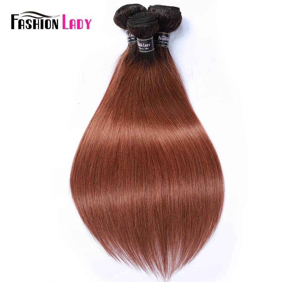 Fashion Lady Pre-Colored Malaysian Straight Hair Bundles 1B 30 Two Tone Human Hair Weave 3/4 Bundle Per Pack Non-Remy