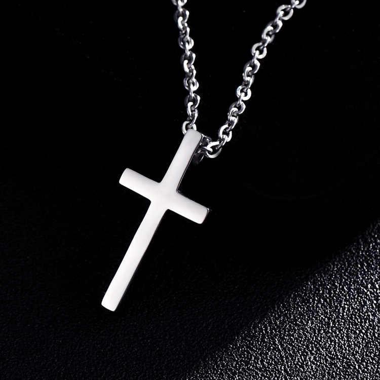 3 размера горячая распродажа мужская звено подвеска на цепочке-ожерелье крест сплошной цвет мужской женский чокер ювелирный подарок