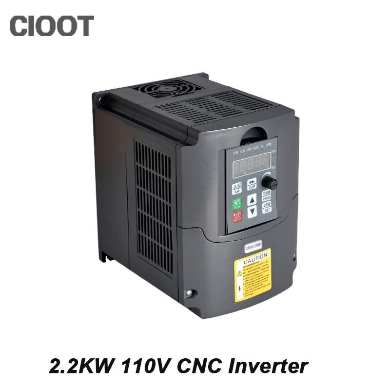 2.2KW 110V Inverter Variable Frequency Drive VFD Inverter with Potentiometer Knob 110V AC панель декоративная awenta pet100 д вентилятора kw сатин
