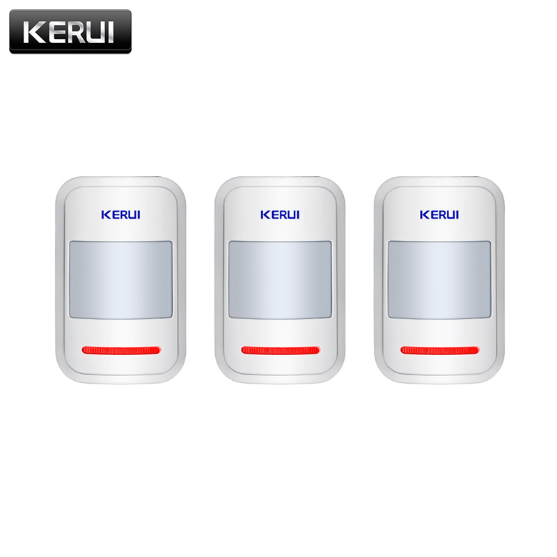 3pcs/lots 433mhz Wireless PIR Motion Detector Sensor For KERUI GSM PSTN Home Security Burglar Alarm System Home Protection цены онлайн