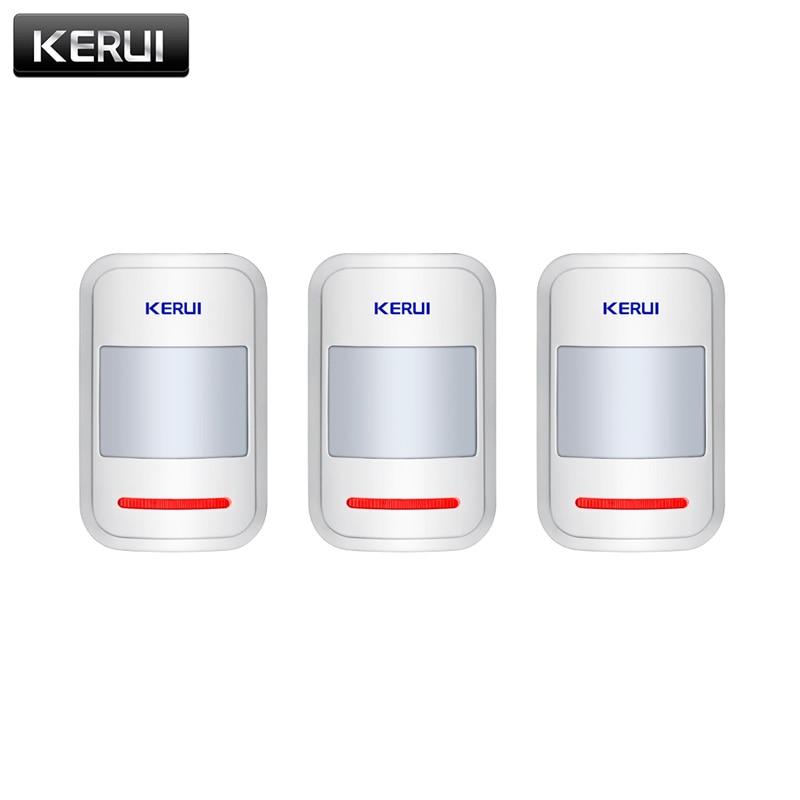 3pcs/lots 433mhz Wireless PIR Motion Detector Sensor For KERUI GSM PSTN Home Security Burglar Alarm System Home Protection