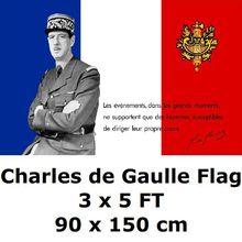 Флаг Шарля де Голля 3x5 футов 100D полиэстер Второй мировой войны французские флаги и баннеры для украшения дома