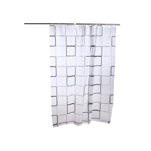 Bathroom Shower Curtains Bath Curtain Waterproof Anti-Mold / Anti-Bacterial, Bath Shower Curtain 180 * 180 White