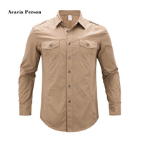 High Quality 2018 Autumn And Winter Air Force One Men S Casual Brand Long Sleeves Shirt
