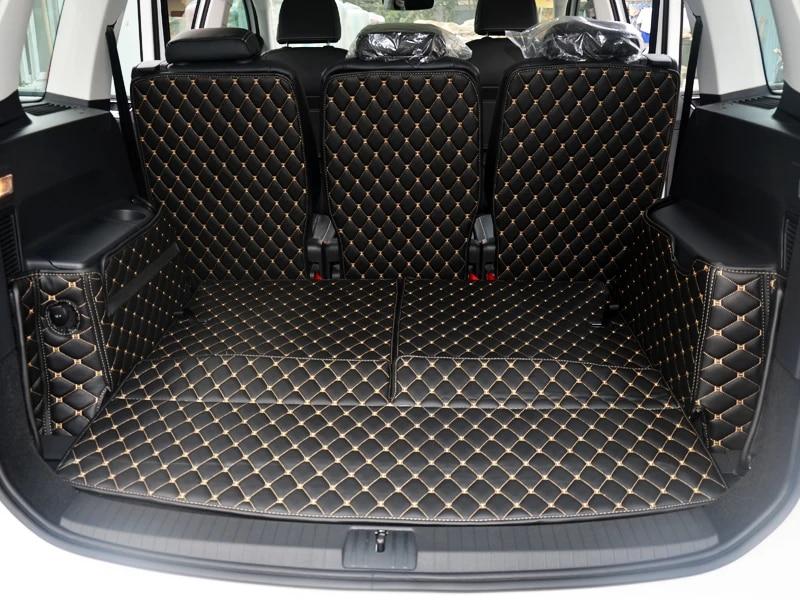 qualite superieure tapis de coffre de voiture special pour volkswagen touran 7 sieges 2020 tapis de coffre durables tapis de revetement de cargaison