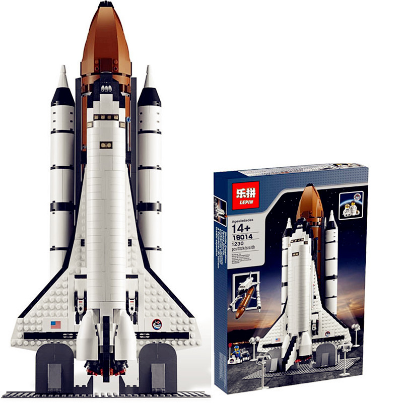 ФОТО IN STOCK New LEPIN 16014 1230Pcs Space Shuttle Expedition Model Building Kits Mini Blocks Bricks Compatible Children Toy 10231