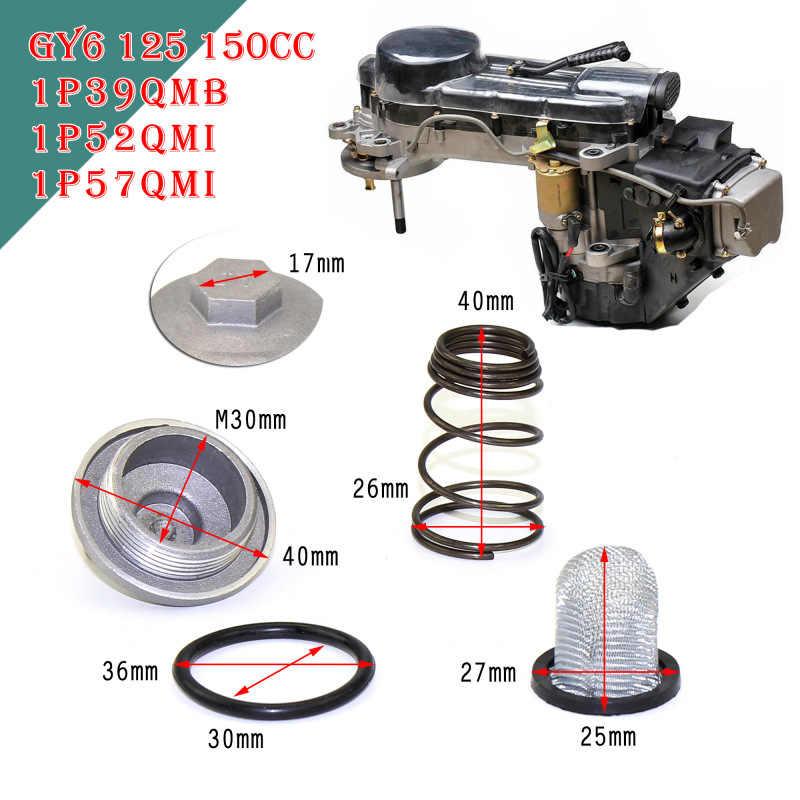 GY6 50cc untuk 150cc 125/150 Bagian-bagian Mesin Steker Minyak Filter Menguras Sekrup Skuter Moped Untuk Benzhou Baotian Znen Taotao