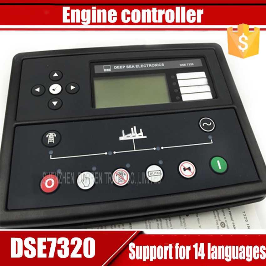 1PC generator controller with Auto Start Control Module,14 language,Detection/protection for EFI non-EFI and gas engine free shipping dse501nk engine generator controller module auto start controller