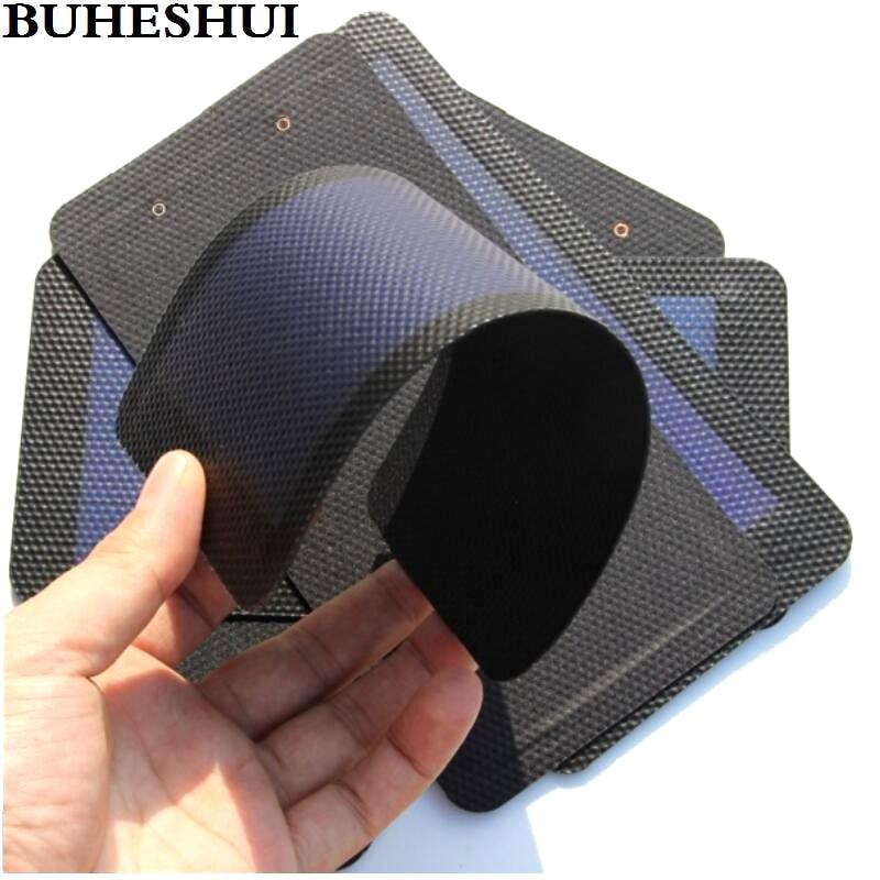 BUHESHUI Flexible Solar Panel 1W 1.5V Amorphous Solar Cell+DIY Solar Panel For Mobile Phone Foldable Solar Charger Free shipping