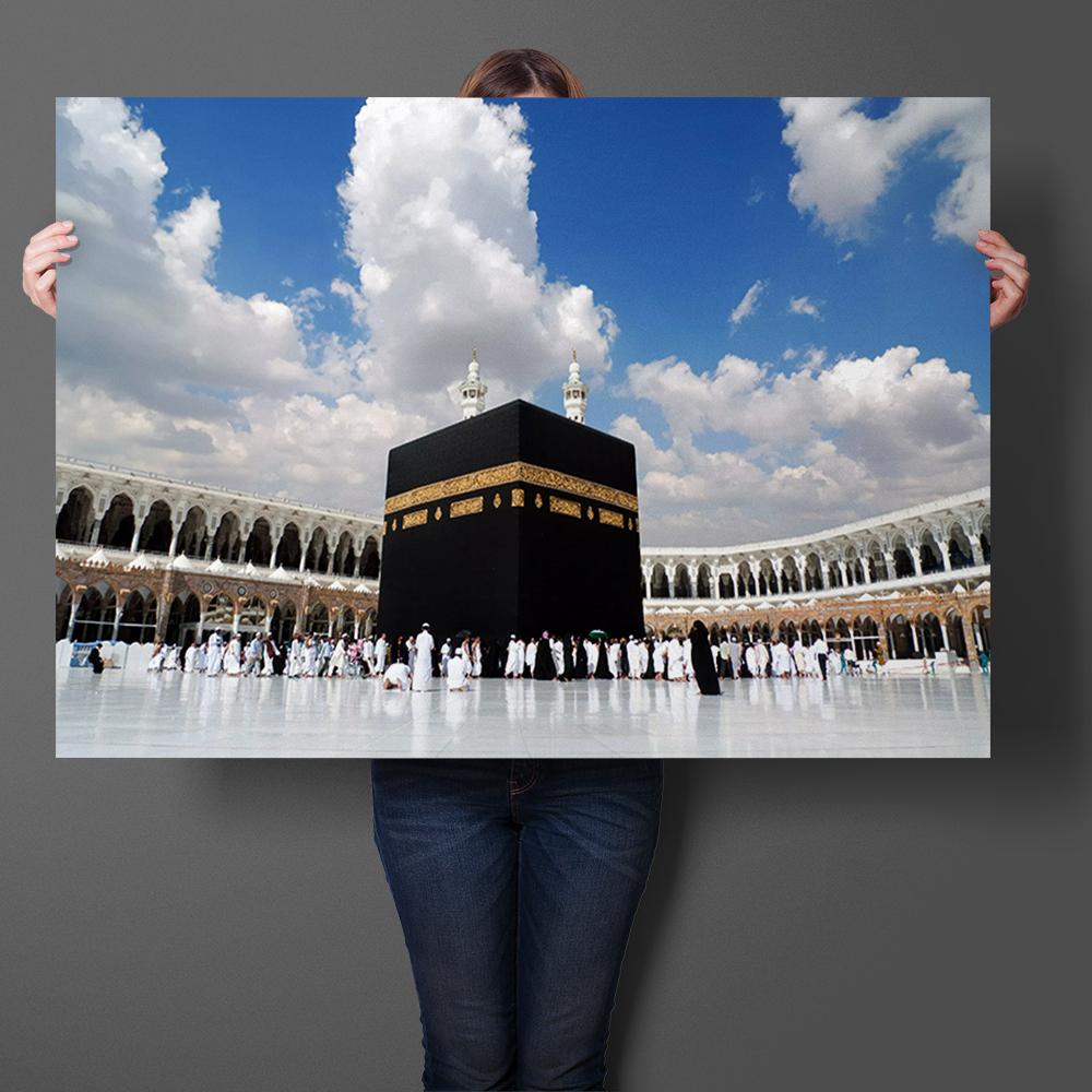 Great Mosque Of Mecca The Muslim Holy Land Wall Art Sticker Art Prints Silk Fabric Poster Print Wall Art Picture Home Decor ...