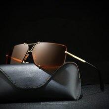 Xiasent mens retro polarized classic frameless sunglasses, heterosexual circle, square glasses, fishing mirror, driving mirror