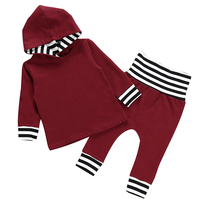 Baby Girl Boy Clothes 2018 Winter Autumn Casual Girl Boy Clothing Outfits Hooded Sweatshirt Pants 2PCS