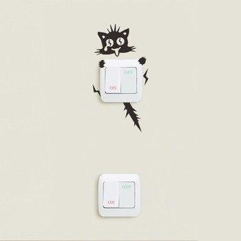 XXYYZZ DIY funny Cute Sleeping Cat Dog Switch Stickers Wall Stickers Decal Home Decoration Bedroom Living Room Parlor Decoration 2  Home HTB100QRmqQoBKNjSZJnq6yw9VXaQ